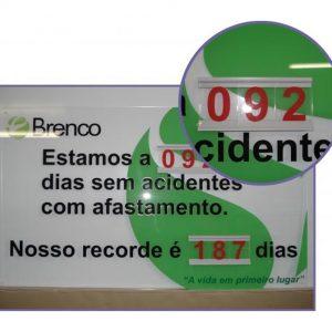 Controle CIPA de tempo sem acidente - CIPA-11