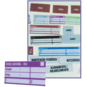 Quadro de gestão visual para concessionárias com peças em PVC - GCON-06