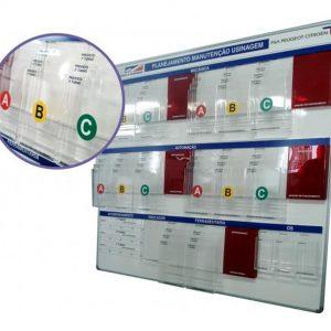 Quadro de gestão a vista com display para suporte de folhas A4 - GISO-12